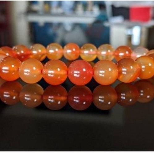 Carnelian 10 mm Crystal Bracelet