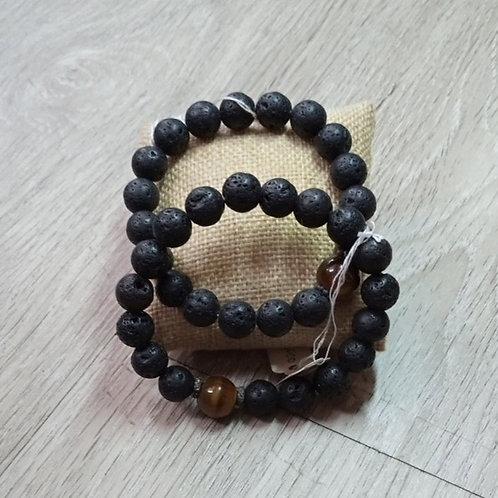 Lava Tiger Eye Crystal Bracelet