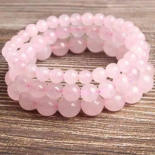 Rose Quartz 12mm Crystal Bracelet