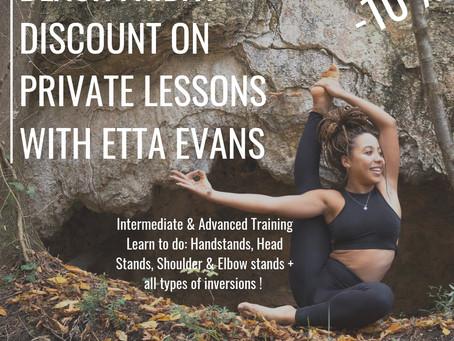 Privates classes with Etta Evans discount