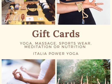 Give the gift of Yoga ! Or a Massage ;)
