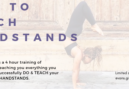 not only how to do handstands but also how to successfully teach handstands to your students.