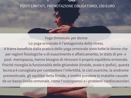 Yoga Ormonale con Carla Nataloni a Firenze il 25e26 Maggio, 150 euro