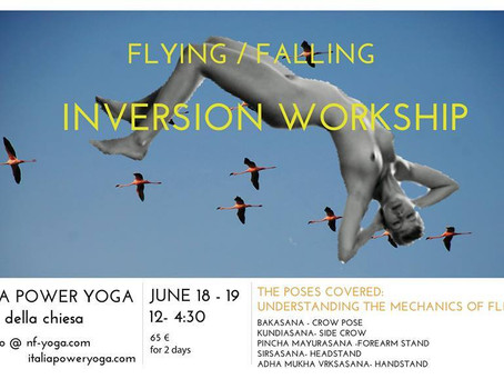 18/6 & 19/6: Come fly with us! Inversion Workshop w Natania