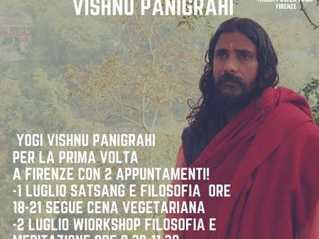 Yogi Vishnu Panigrahi a Firenze