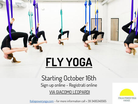 FLY YOGA starting October 16 2017