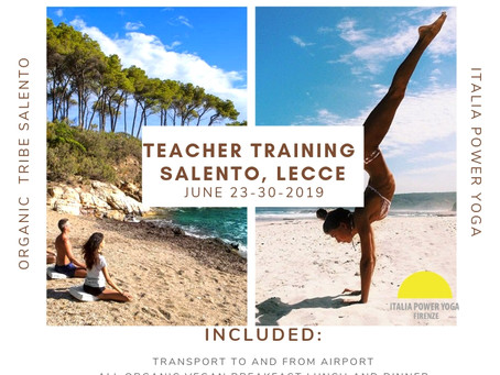 50 hour Teacher Training Retreat Salento, Lecce 1350 euro- discount ends may 1st
