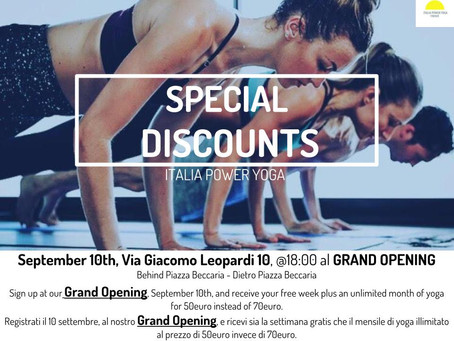 Special discounts - September 10th at the GRAND OPENING of our second studio location. Read more to