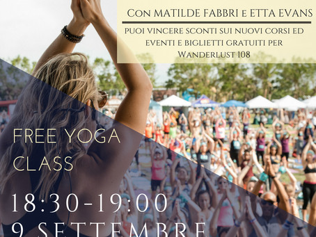 Free Yoga Class September 9th- open to all