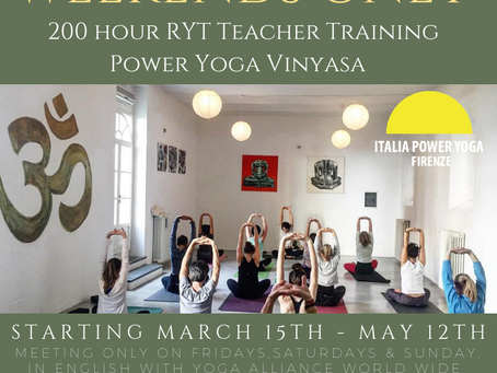 WEEKENDS ONLY - 200 RYT Teacher Training