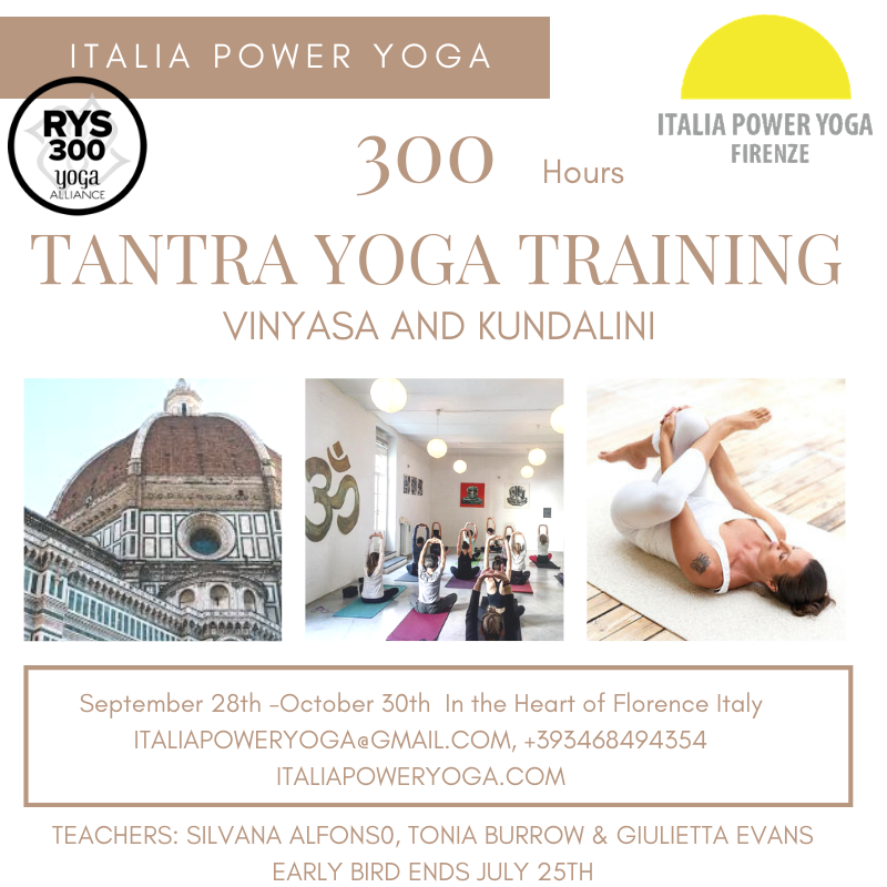email us for more info @ italiapoweryoga@gmail.com early bird ends July 25