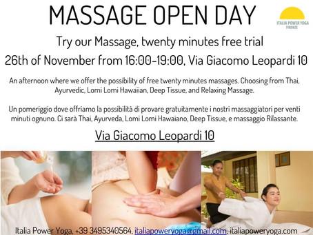 Get A Free Massage at Italia Power Yoga!