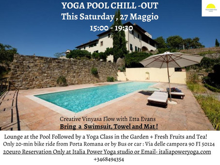YOGA POOL CHILL-OUT This SATURDAY 27th of May 15:09-19:30, 20£