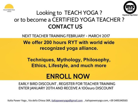 Looking to teach yoga or become a certified yoga teacher ?