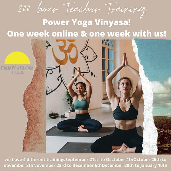 200 hour Teacher Training Power Yoga Vin
