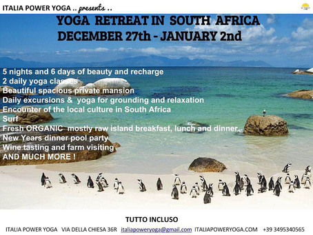 Yoga Retreat in South Africa - Dec 27 to Jan 2