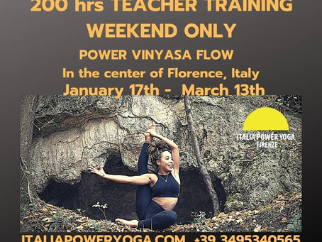 200-HOURS VINYASA FLOW  YOGA TEACHER TRAINING  weekends only with Yoga Alliance