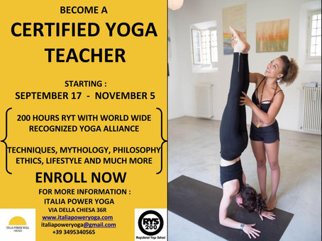 RYT Teacher Training Starts September 17!