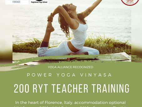 Teacher Training: Power Yoga Vinyasa 200RYT world wide recognized