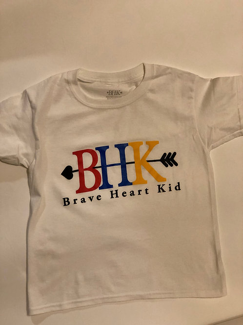 Brave Heart Kid White T-Shirt Infant/Toddler