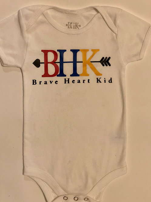 Brave Heart Kid White Infant Onesie