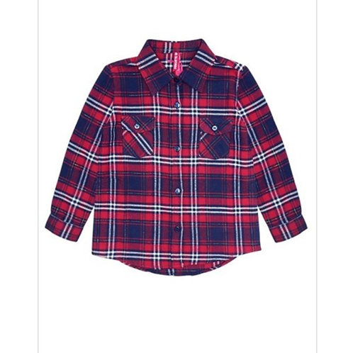 Red/Navy Flannel