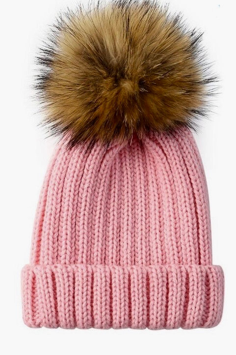 Pretty in pink winter hat