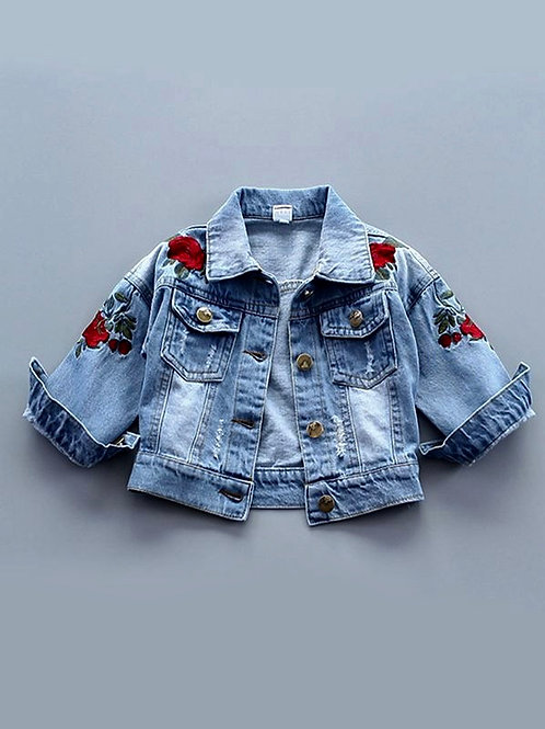 Red Roses denim jacket