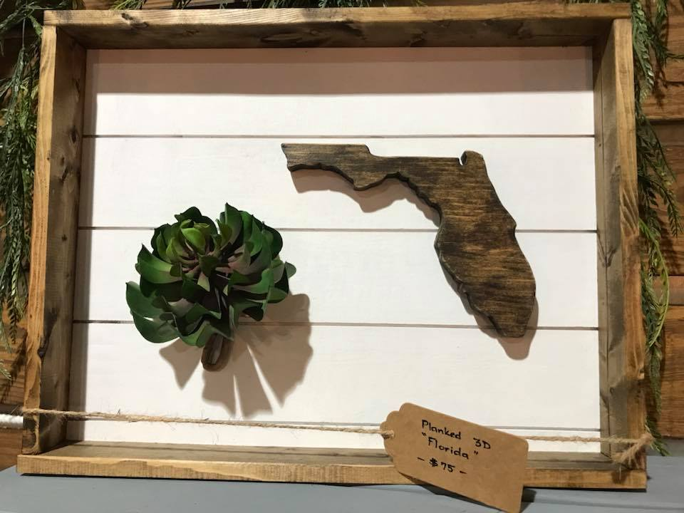 3D Planked Florida $75