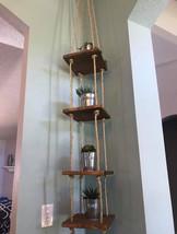 Rustic Corner Hanging Shelves