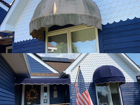 We specialize in fabric replacement on existing awning.