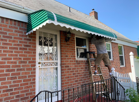 Step-Down Aluminum Awning Fabricators | Queens, NY | Brooklyn, NY | New Jersey.