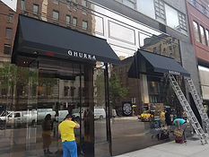 Open-sided commercial awnings nyc