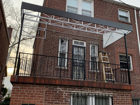 Custom Aluminum awnings for our Residential Customer in Bronx NY