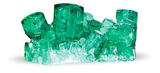 Chatham created emerald crystals