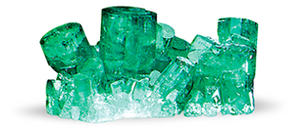 Chatham created emerald crystals