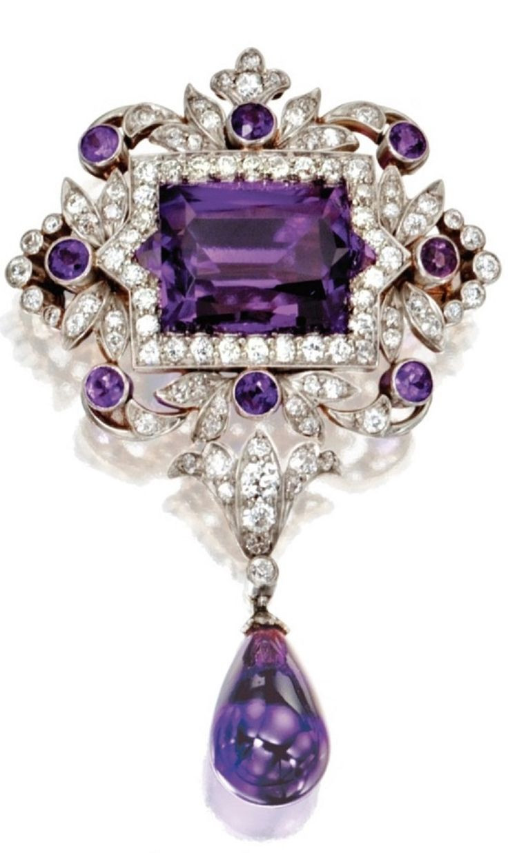 Tiffany & Co. Belle Epoque Amethyst, pearl and diamond pendant