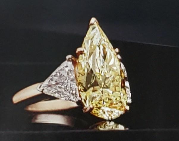 Heritage Auction yellow diamond ring