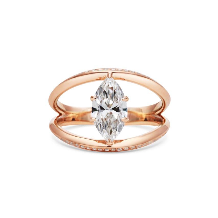 Rachel Boston design marquise engagement ring