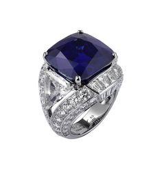 Cartier Cushion Sapphire