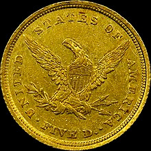 $5 Eagle from Charlotte Mint - wikipedia