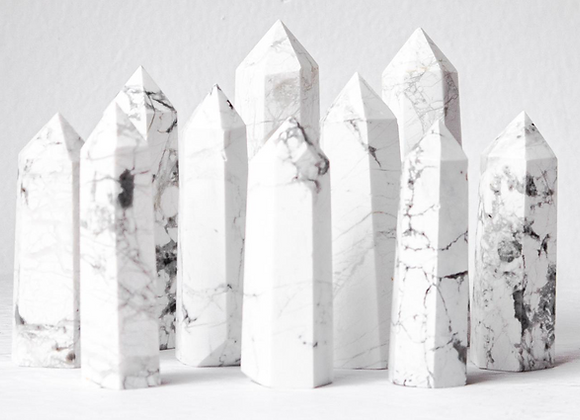 White Howlite Crystal Point
