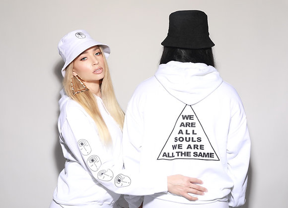 """WHO'S FRANKIE """"We are all souls"""" UNISEX HOODIE!"""