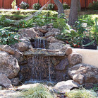 Another pondless waterfall – minimal maintenace and child-safe.