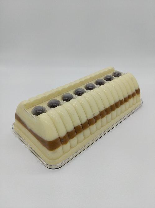 Bûche glacée Vanille de Madagascar - Coulis Caramel Beurre Salé 8parts