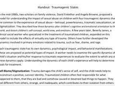 Traumatic States Handout