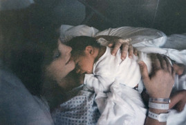 Precious moments holding my son in the hospital.