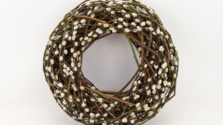 Extra Large Wicker and Pussy Willow Wreath