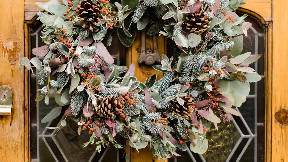 Sussex Carol Traditional Moss Door Wreath