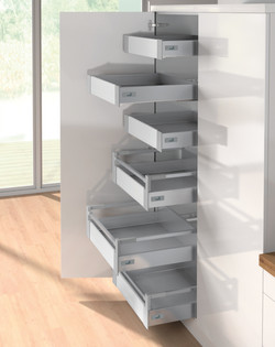 Drawers shown with hinged door option